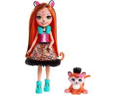 Enchantimals- Bambola Tanzie la Tigre con Amico Cucciolo, Multicolore, Taglia única, FRH39