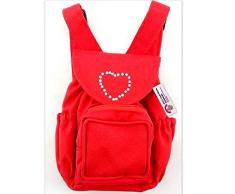 Costruisci il tuo Orsi armadio da 15 pollici Clothes Fit Corporatura Bear Zaino (Red)