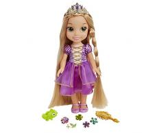 Jakks Pacific- Disney Princess Bambola Rapunzel Glow And Style, 71613