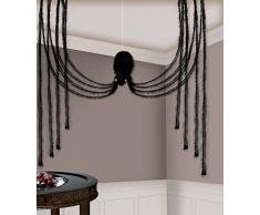 Amscan 241822, ragno in tessuto per casa stregata, set di decorazioni, 1,9 m
