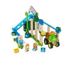 Fisher-Price Wonder Makers, il Centro di Riciclaggio, Set da Costruzione con più di 40 Pezzi, Giocattolo per Bambini 3+ Anni, GFJ12