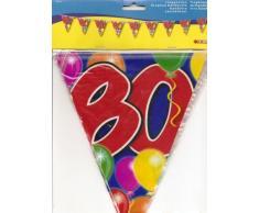 Folat Bandierine 80 Compleanno, 10 m