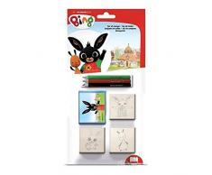 Multiprint Casetta 7 Timbri per Bambini Hello Kitty Olympics, 100% Made in Italy, Set Timbrini Bimbi Personalizzati, in Legno e Gomma Naturale, Inchiostro Lavabile Atossico, Idea Regalo, art.09803