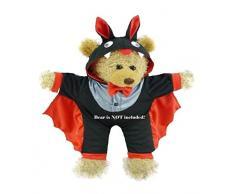 Costruisci il tuo Orsi armadio da 15 pollici Clothes Fit Corporatura Orso Piccolo Diavolo Halloween Outfit