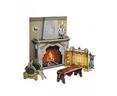 Keranova keranova260 12 x 4 x 14 cm Clever Paper Doll House e Collezione di mobili Camino 3D Puzzle