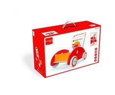 Scratch - Macchinina giocattolo in legno, ideale per i primi passi, colore: Rosso