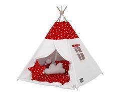 Elfique, Tenda da Indiano Tipi, con Doppio Rivestimento Imbottito, Tenda con Coperta