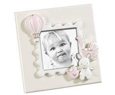 Mascagni Casa Formato 6X6 con Decorazioni Rosa Cornici Classiche, Multicolore, 8003426037683