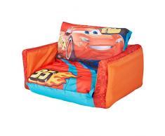 Disney Cars - Flip Out Mini Divano - lettino e divano gonfiabile 2 in 1 per bambini