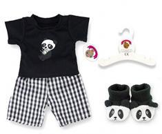 Costruisci il tuo Orsi armadio da 15 pollici Abbigliamento Fit Panda di PJ Orso Abbigliamento