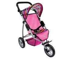 Bino Europe 82912 - Passeggino per bambole Jogger, 3 ruote, misura grande