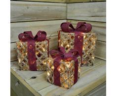 Kaemingk Set 3 Luminose Pacco Natale Luci E Decorazioni, Multicolore, 8718532526319