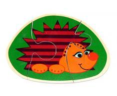 Hess 14911 - Bambino Giocattolo in Legno: Hedgehogs Mini Puzzle
