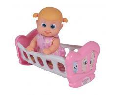 Simba- Bouncin Babies Little Bonny mit Wiege Culla, Colore, Taglia Unica, 105143325