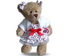Costruisci il tuo Orsi armadio da 15 pollici vestiti adatti a costruire Orso pois Dress (Red)