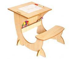 Little Helper TC/asi01 - 1 di G - 4-in-1 ArtStation Bambini scrivania con Lavagna e cavalletto, in Legno Naturale