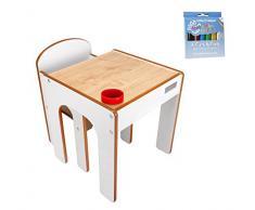 Little Helper 3-in-1 Funpit bambini Gioca e sabbia Tavolo con reversibile Blackboard Top (Maple/naturale)