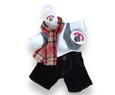 Costruisci la tua Orsi armadio da 15 pollici Abbigliamento Fit costruire Orso Controllato Sciarpa Outfit