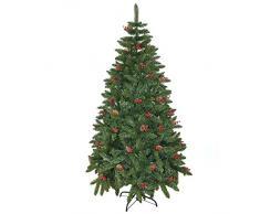 Gifts 4 All Occasions Limited SHATCHI-729 - Albero di Natale artificiale con decorazione, 240 cm, colore: verde