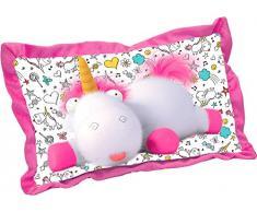Joy Toy- DM3 Cuscino Rettangolare Fluffy in Peluche, Colore Bunt, 44 x 26 cm, 93748