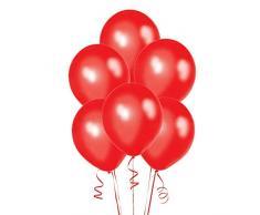 Gifts 4 All Occasions Limited SHATCHI-1214 SHATCHI 5 palloncini rossi metallizzati in lattice di qualità elio per matrimonio, Natale, anniversario, compleanno, festa, 30,5 cm