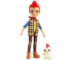 Enchantimals- Redward Il Gallo e Cluck Bambola di 15 cm con Accessori, Giocattolo per Bambini 4+ Anni, Multicolore, GJX39