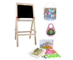 Little Helper 3-in-1 Funpit bambini Gioca e sabbia Tavolo con reversibile Blackboard Top (Maple / naturale / arancione)