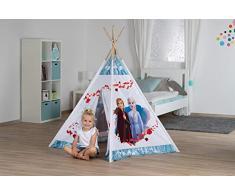 John Disney Tipi in legno Tenda per bambini gioco Frozen 2, Colore bianco, 75216