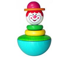 Hess 15702 - Giocattolo in Legno, Clown, Wobble Bounce Back, 1 pezzo [modelli assortiti]
