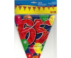 Folat Ghirlanda di bandierine per 65° Compleanno, 10 m