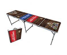 Original Cup - Tavolo Ufficio di Beer Pong, 240 x 60 x 70 cm, Giochi Alcolici - Team