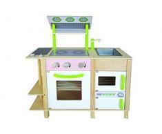 Un design moderno Woody legno Bambini Cucina giocabile su 2 pagine diverse