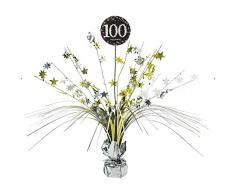 Amscan, decorazione centrotavola per 100esimo compleanno, da 45 cm, 9901733 (lingua italiana non garantita)