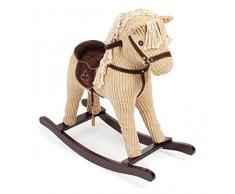 Bayer CHIC 2000 407 01 cavallo a dondolo Sammy, altalena per bambini a partire dai 18 mesi, Gioco, Beige