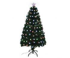 Shatchi 6080-LED-DIAMONDS-TREE-1,8 m LED fibra ottica albero di Natale pre-illuminato decorazioni per la casa 180 cm 1,8 m, verde