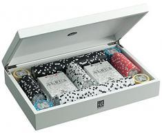 Juego JU00081 Albus Medusa Gioco di Poker Cofanetto in Legno Laccato Bianco