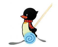 Hess 14446 - Bambino Giocattolo a Cavallo Penguin Konrad, in Legno