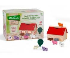 Globo Globo – 36587 Legnoland Fattoria con Animali giocattolo di legno (10 pezzi)