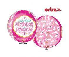 AMSCAN 3331201 15 x 40,6 cm Fabulous celebrazione compleanno magico sfere foil palloncini