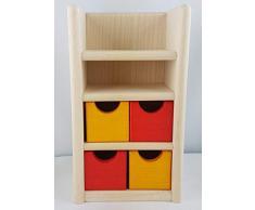 Rlke Holzspielzeug 22627 - Armadio per cameretta Filius
