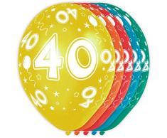 Palloncini festa di compleanno 40 anni - 5 pezzi