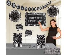 Amscan 241143 buon compleanno personalizzabile decorazione kit