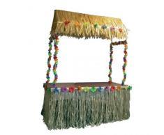 Gifts 4 All Occasions Limited SHATCHI-1019 - Gonna per tavolo Tiki in nylon, 274 x 73,7 cm, decorazione per feste tropicali hawaiane, multicolore
