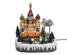 Kaemingk Scenario di Mosca con LED Bianco Caldo Natale Decorazioni, Multicolore, 8719152321339