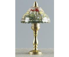 Kahlert Luce 10463 - Mini Doll Accessori - Lampada da Tavolo in Porcellana, Rotondo