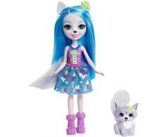 Enchantimals, Bambola Winsley Lupo con Animale, Giocattolo per Bambini 4+Anni, FRH40