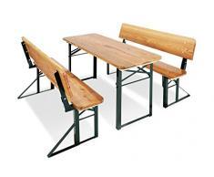 Pinolino 201395 - Set di Tavolo e panchine da Esterno per Bambini