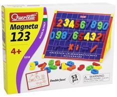 Quercetti 5213 - Magneta 123 Lavagna Magnetica, 53 pezzi