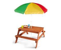 Plum tavolo da picnic con ombrellone da giardino per bambini