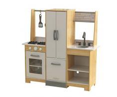 KidKraft 53423 Cucina giocattolo in legno per bambini Modern-Day con EZ Kraft Assembly™ con accessori di gioco inclusi